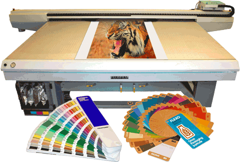 Fujifilm Acuity HD 2504 plotter and color books