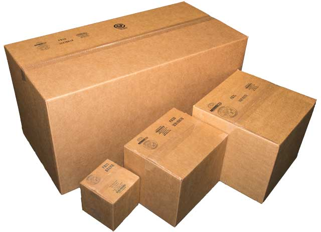 Stock boxes of various sizes