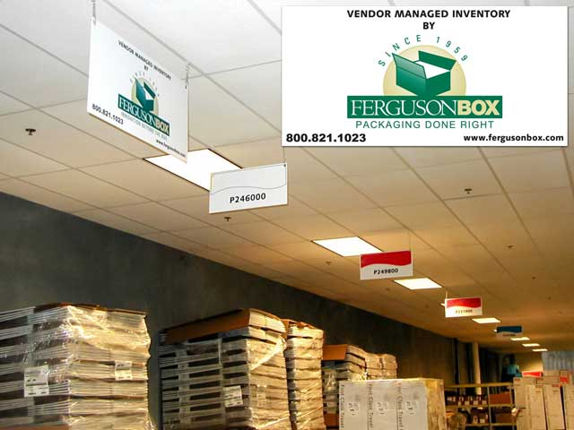 VMI inventory program and sign